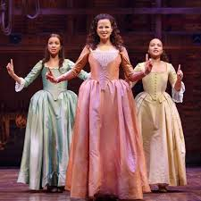 Lexi Lawson as Eliza, Mandy Gonzalez as Angelica, and Jasmine Cephas Jones  as Peggy | Hamilton costume, Hamilton, Hamilton musical