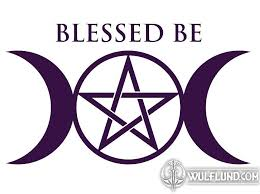 Blessed Be Wiccan Car Sticker Wulflund Com