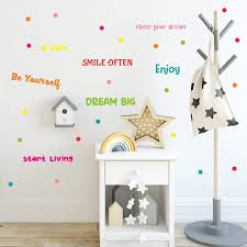 Handmade Products Wall Stickers Set Of Colorful Inspirational Quotes Wall Decals For Kids Room Classroom Removable High Quality Vinyl Stickers