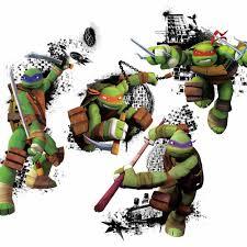 Teenage Mutant Ninja Turtles In Action Peel And Stick Giant Wall Decals Peel And Stick Decals The Mural Store