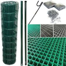 Pvc Coated Wire Mesh Fencing Wire Galvanised Garden Nail Metal Fence Posts Rolls Ebay
