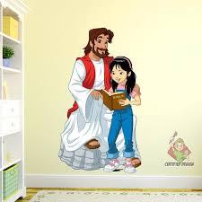 Jesus Teaching Girl Wall Decal Kids Church Wall Decal Jesus Etsy