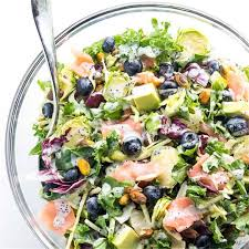 Salmon Kale Superfood Salad Recipe with ...