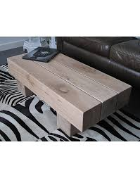 solid light oak 3 beam coffee table