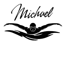 Name Swim Wall Sticker Car Swimmer Decal Swimming Posters Vinyl Wall Decals Decor Mural Swimming Wall Decal Wall Stickers Aliexpress