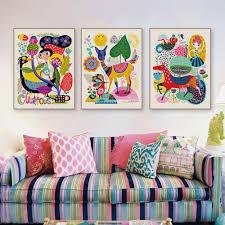 Children S Bright Boho Animal Art Prints Gallery Wallrus Free Worldwide Shipping