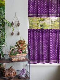 india sari purple kitchen curtains