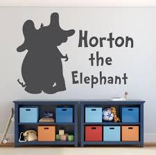 Dr Seuss Horton The Elephant Vinyl Decor Wall Decal Customvinyldecor Com