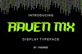 raven mx typeface fontlot
