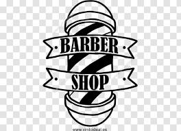Barber S Pole Logo Hairdresser Wall Decal Area Barber Shop Transparent Png