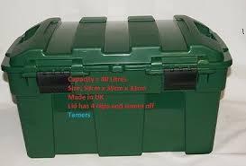 heavy duty green garden storage chest