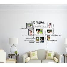 Winston Porter House Rules Quote And Photo Frame Birdcage Wall Decal Wayfair