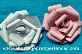 diy crepe paper rose flowers sharing
