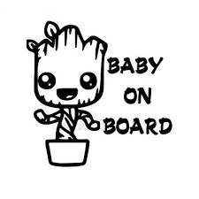 Baby Groot Decal Car Truck Window Sticker Guardians Of The Galaxy