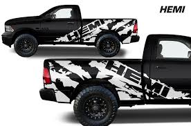 Dodge Ram 1500 2500 3500 2009 2018 5 7 Bed Vinyl Decal Kit Hemi Factory Crafts
