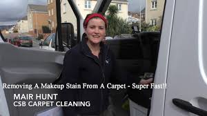 removing a makeup sn from a carpet