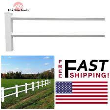 Weatherables Vinyl Fence Panel Fencing Garden 2 Rail Diamond 3 Ft X 8 Ft White For Sale Online Ebay