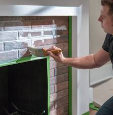 paint a brick fireplace with whitewash