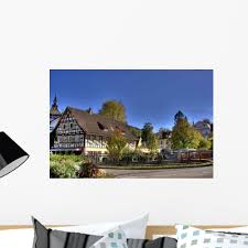 Half Timbered House Black Forest Wall Decal Wallmonkeys Com