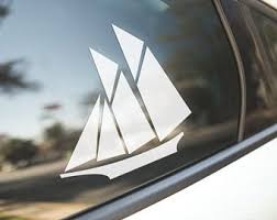 Sailboat Decal Etsy