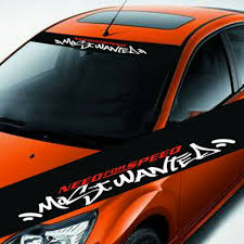 Motors Car Truck Front Windshield Window Reflective Vinyl Stickers Graphic Decal Decors Car Truck Graphics Decals