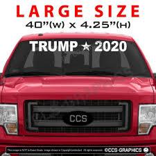Trump 2020 Windshield Back Window Decal Sticker Large 22 30 40 Inch Wide In 2020 Car Sticker Ideas Cool Car Stickers Back Window Decals
