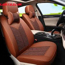 cartailor pu leather car seat cover for