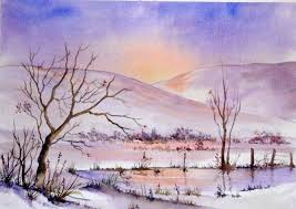 Pamela West - Sunrise - Snowy mountains - Artists & Illustrators - Original  art for sale direct from the artist
