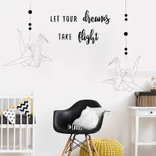 Inspirational Family Kids Room Wall Sticker Quotes Let Your Dreams Take Flight Vinyl Modern Home Decor Bedroom Wall Decals Lc316 Wall Decals Kids Room Wall Stickerswall Sticker Aliexpress