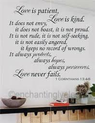 Love Is Patient Love Is Kind Bible Verse Vinyl Decal Wall Sticker Words Letters Ebay