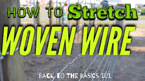 Stretching Woven Sheep Wire Youtube