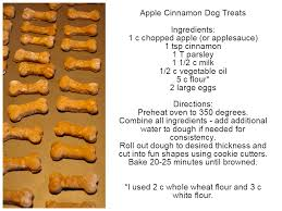 homemade apple cinnamon dog treats