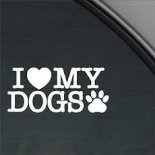 Sale I Love My Dogs Decal Car Truck Bumper Window Sticker O Deals Ksjfhdsljfdrg