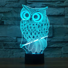 Owl Night Light 3d Optical Illusion Table Lamp For Kids Yklworld Usb Switch Touch 7 Color Changing Toys Bed Room Decor Lighting Birthday Gifts For Children Girls Owl Lover Amazon Com