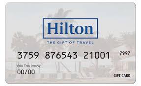 hilton gift card at the hilton anatole