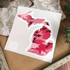Pink Camo Michigan Car Decal Grandpa Shorter S Gifts