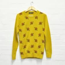 fly mustard yellow bee jumper sweater