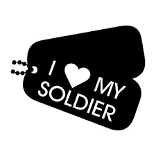 More Shiz I Love My Soldier Dogtags Vinyl Decal Sticker Car Truck Van Suv Window Wall Cup Laptop One 5 5 Inch White Decal Mks0687 Exterior Accessories Bumper Stickers Decals Magnets