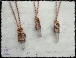 quaint quartz crystal pendant wiccan