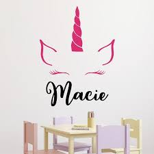 Unicorn Horn And Name Wall Quotes Decal Wallquotes Com