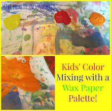 diy paint palette for kids