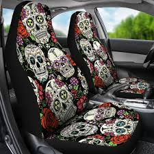 Sugar Skulls Car Seat Covers Set Decalcustom