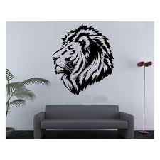 Diy Removable Lion Head Wall Stickers Car Decoration Home Decor Wallpaper You Can Get Additiona Diy Wall Decals Vinyl Wall Decals Bedroom Vinyl Wall Decals