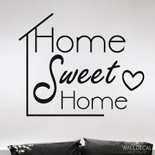 wall quote home sweet home