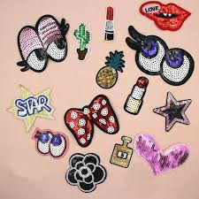 1pc Paillette Sequins Embroidered Patches Clothes Stickers Bag Sew Iron On Applique Diy Apparel Sewing Clothing Accessories Bu20 Iron On Applique Iron Onembroidered Patch Aliexpress