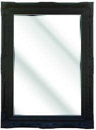 large ornate black framed wall mirror