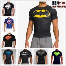 muscle fit batman fitness cotton tee