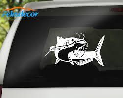 New Arrivals Art Catfish Fish Vinyl Creative Car Decal Car Styling Decals White Black L193 Car Stickers Aliexpress