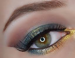 green gold eye makeup tutorial