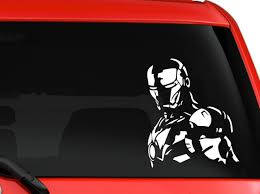 Amazon Com Iron Man 3 Avengers Marvel Superhero Hulk Captain America Car Truck Suv Window Laptop Kitchen Wall Macbook Decal Sticker Approx 6 Inches White Home Kitchen